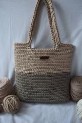 Veľké tašky - Hnedá taška s podšívkou - 13201456_
