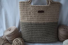 Veľké tašky - Hnedá taška s podšívkou - 13201458_