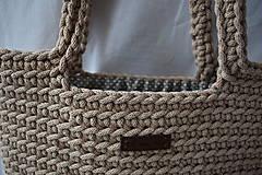 Veľké tašky - Hnedá taška s podšívkou - 13201459_