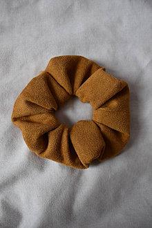 Ozdoby do vlasov - Scrunchies - hnedá - 13201439_