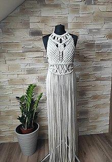 Šaty - Macrame šaty Glitter - 13199498_