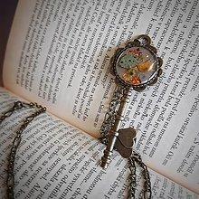 Dobrý obchod - Náhrdelník kľúč plátkové zlato - 13199800_