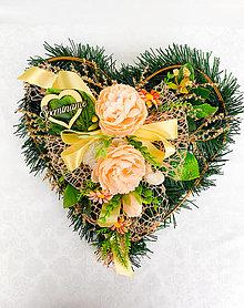 Dekorácie - Spomienkové srdce - 13201133_