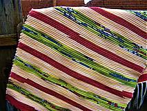 Úžitkový textil - Tkaný koberec pestrofarebný 16 - 13198925_