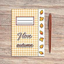 Papiernictvo - Zápisník károvaný ročné obdobia - jeseň (lístie) - 13202325_
