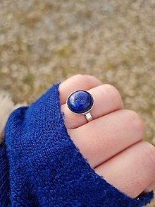 Prstene - Lapis Lazuli prsteň z rhodiovaného striebra - 13205658_