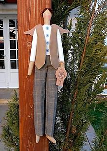 Dekorácie - Anjelik Chlapec, 55 cm - 13205111_