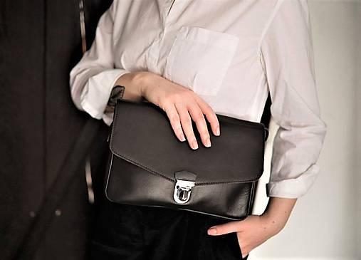 Kabelky - Kožená kabelka N 42 - tmavě hnědá - 13204185_
