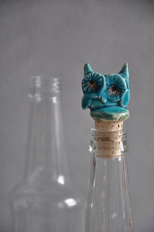 Sova zátka na fľašu sova