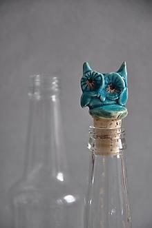 Pomôcky - Sova zátka na fľašu sova - 13205222_