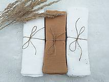 "Textil - Mušelínka ""KARAMEL"" 60x50cm - set 3ks (mušelínová plienka)  - 13203587_"