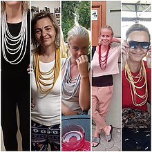Náhrdelníky - Textilný šperk - 13205825_