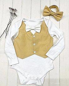 Detské oblečenie - BODY s vestou, BODIČKO na oslavu - 13206745_