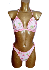 Plavky - Handmade plavky Pink - 13205494_