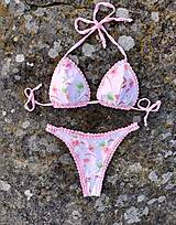 Plavky - Handmade plavky Pink - 13205498_