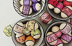 Dekorácie - Liliputie vajíčka / dúhové - farebné - 13206646_