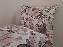 - Obliečky na vankúše staroružové kvety na bielej (45×45cm) - 13208738_