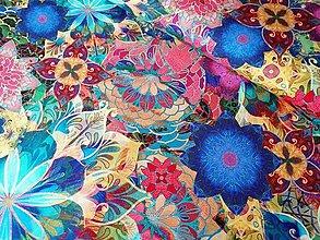 Textil - Bavlnená látka Venice Multi - 13208247_