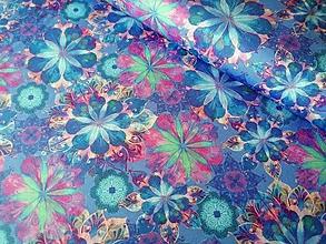 Textil - Bavlnená látka Venice Lapis - 13208258_