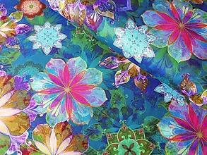 Textil - Bavlnená látka Venice Teal - 13208271_