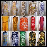 Šaty - FLORAL FOLK -  šaty v dĺžke midi s vačkami (mandarínka s bielou) - 13207432_