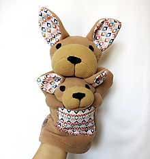 Hračky - Maňuška klokan - Kengura z Tichej doliny s mláďatkom - 13207558_