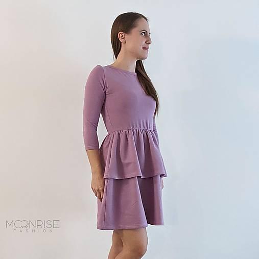 Šaty - Dámske šaty s volánom ORGANIC - lila - 13208936_