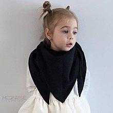 Detské doplnky - Mušelínový šálik - black - 13208869_