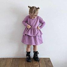 Detské oblečenie - Šaty s volánom ORGANIC - lila - 13208926_