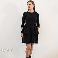 Šaty - Dámske šaty s volánom ORGANIC - black - 13209472_