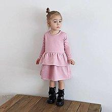 Detské oblečenie - Šaty s volánom ORGANIC - pink - 13209480_