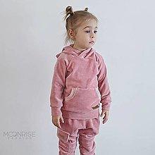 Detské oblečenie - Detská velúr mikina - pink - 13209549_