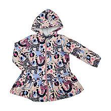 Detské oblečenie - Detská softshell bunda s volánmi - jungle - 13209689_