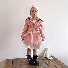 Detské oblečenie - Detský softshell trenchcoat s kapucou - pink - 13209782_