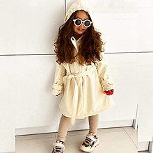 Detské oblečenie - Detský softshell trenchcoat s kapucou - light nude - 13209789_