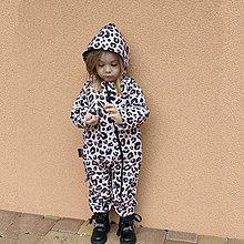 Detské oblečenie - Detský softshell overal - leo pink - 13209802_