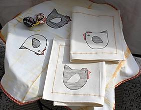 Úžitkový textil - Obrus. Venkovský chalupársky ľanový obrus - 13208205_