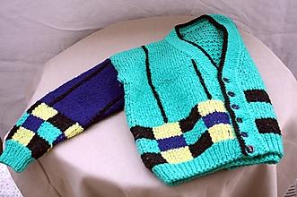 Detské oblečenie - Pletené. Detský chlapčenský ručne pletený žakárovým vzorom. - 13208408_