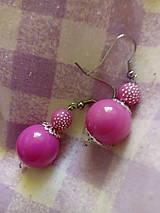 Náušnice - Náušničky guličky ružové - 13207264_