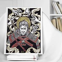 Kresby - Obraz Geralt z Rivie (print) - 13209340_