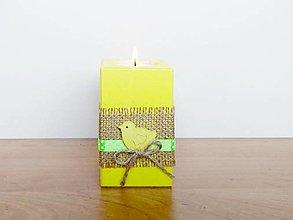 Svietidlá a sviečky - Jarný/veľkonočný svietnik 🐤 - 13208645_