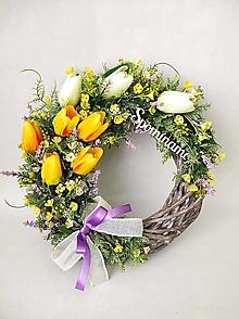 Dekorácie - Spomienkový venček - tulipánový - 13208240_