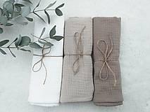 """Textil - Mušelínka """"LATTE"""" 60x50cm - set 3ks (mušelínová plienka) - 13209302_"""
