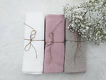 """Textil - Mušelínka """"PUDER ROSE"""" 60x50cm - set 3ks (mušelínová plienka) - 13209326_"""