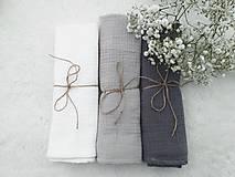 """Textil - Mušelínka """"SHADOW"""" 60x50cm - set 3ks (mušelínová plienka) - 13209377_"""