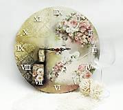 Hodiny - Vintage nástenné hodiny - 13208308_
