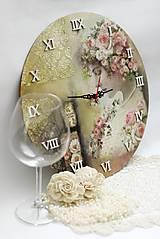 Hodiny - Vintage nástenné hodiny - 13208309_