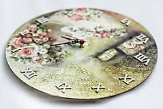 Hodiny - Vintage nástenné hodiny - 13208310_