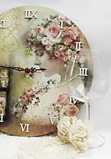 Hodiny - Vintage nástenné hodiny - 13208311_