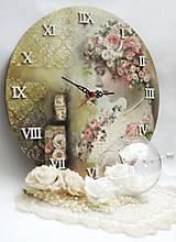 Hodiny - Vintage nástenné hodiny - 13208312_